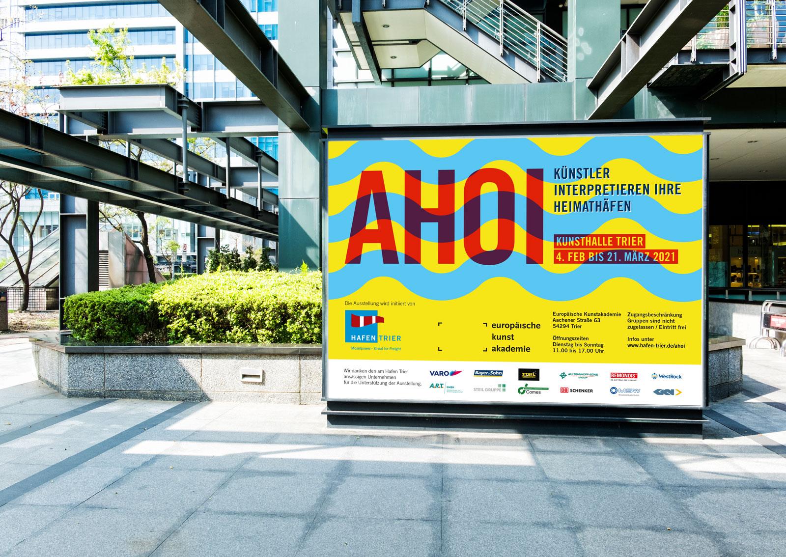 Grossflächenplakat für die Ausstellung Ahoi