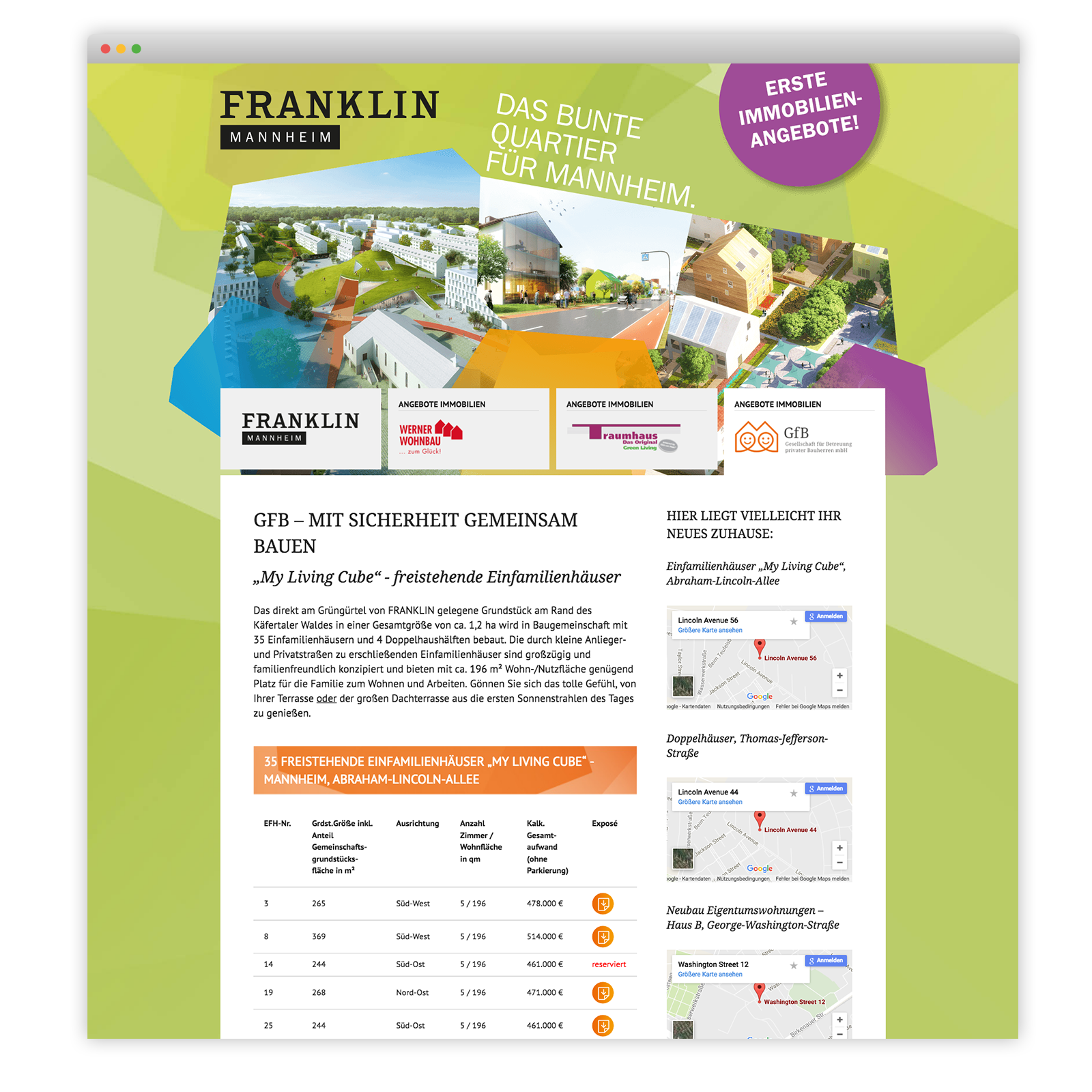 Franklin Landingpage