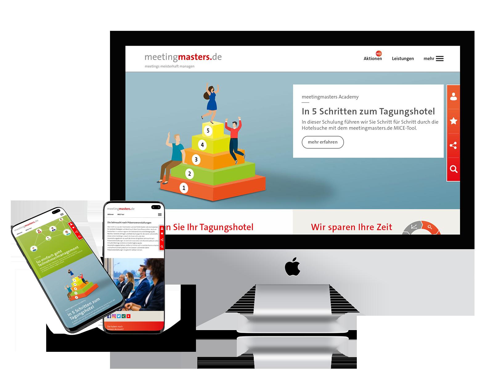 Onlinepräsenz meetingmasters.de