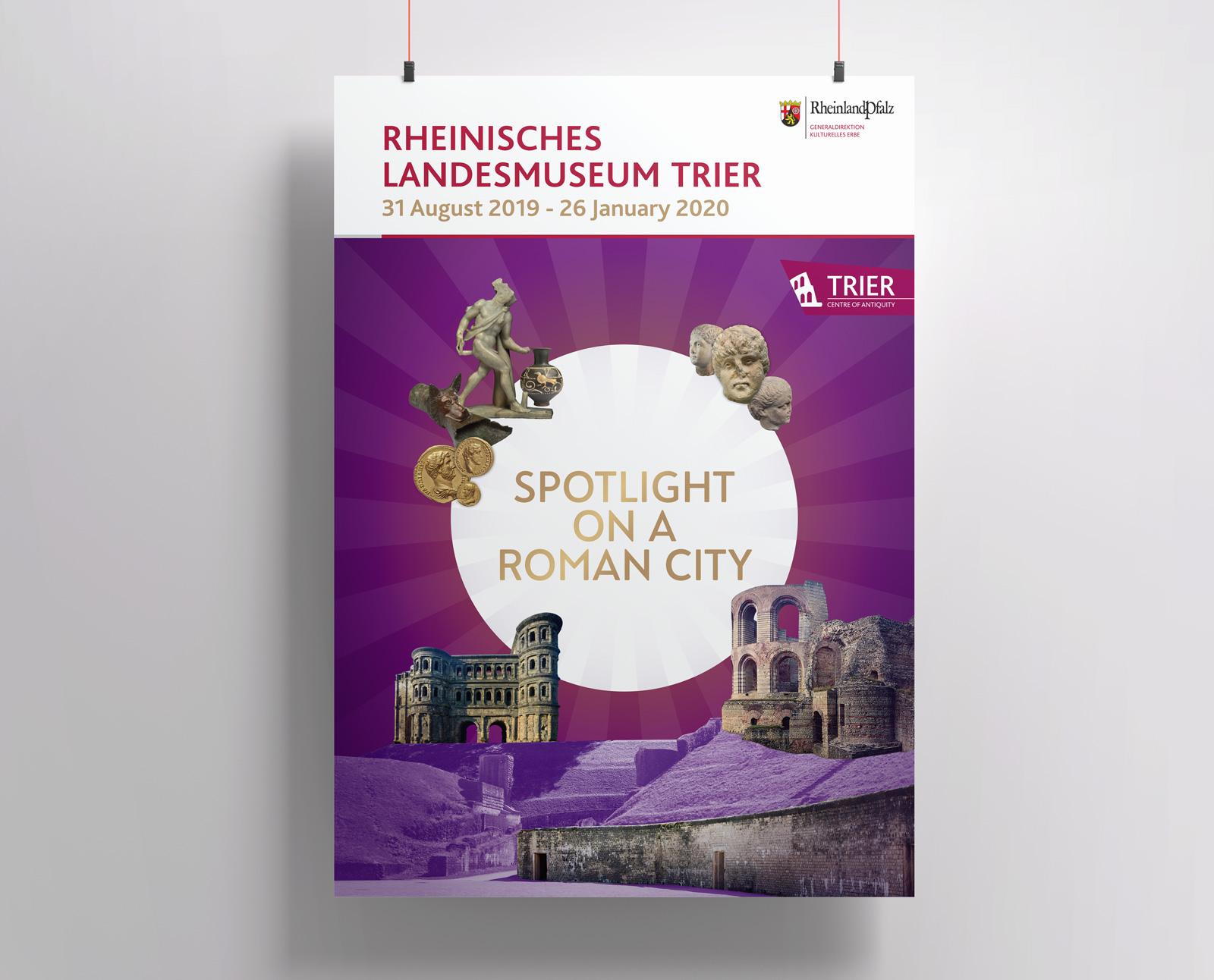 """Plakat für die Ausstellung """"SPOT AN!"""" des Rheinischen Landesmuseums"""