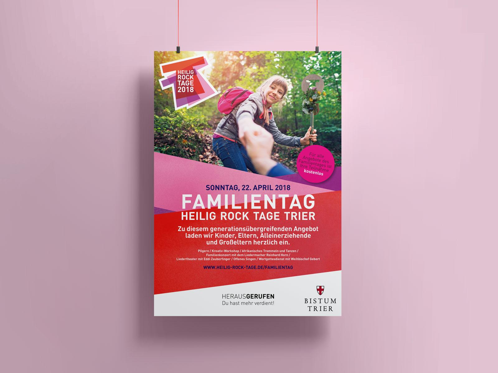 Poster Familientag, Heilig Rock Tage
